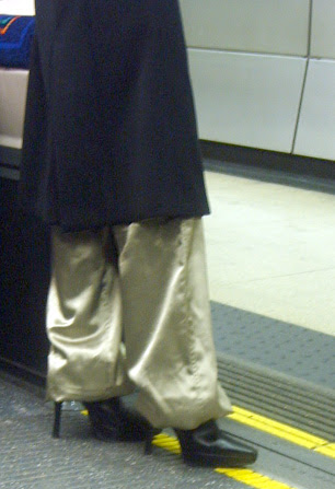 Metallic Trousers and Platform Boots