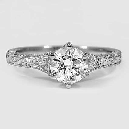 Platinum Hudson Ring // Set with a 0.75 Carat, Round