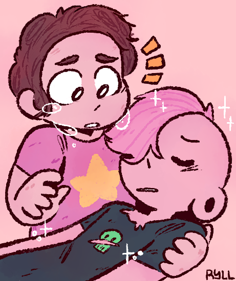 i wished Steven kissed Lars to bring him back instead of magically giving him healing tears, because i really think the reason why have healing spit is too kiss someone who got injured (also this is...