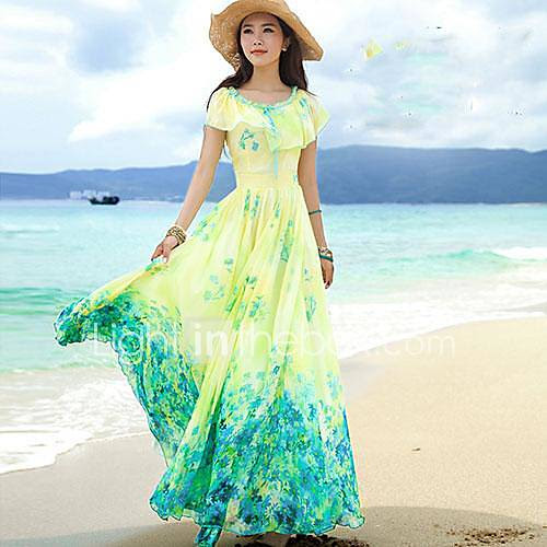 women's bohemian dress vacation beach dress 2808347 2016