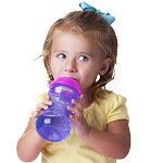 Nuby 2-pack No-spill Easy Grip Clik-it Cups 10 Ounce Colors May Vary