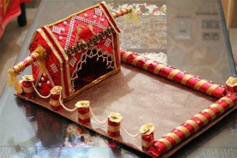 First wedding card tray   Trousseau packing   Diy wedding