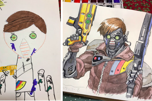 These Kids' Drawings Are Being Turned Into Amazing Anime