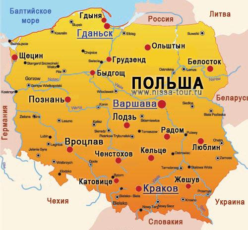 Картинки по запросу карта Польши