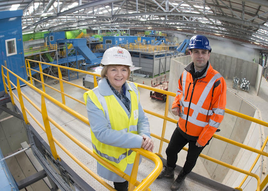 Watch: Council Leader Jenny Laing sees new £27 million Materials Recycling Facility near completion