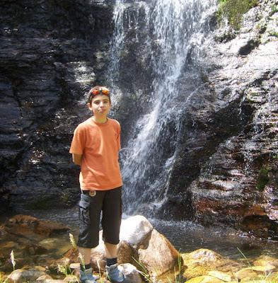 Ruben en la cascada