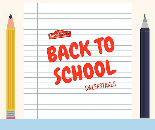 Stroehmann Back to School Sweepstakes