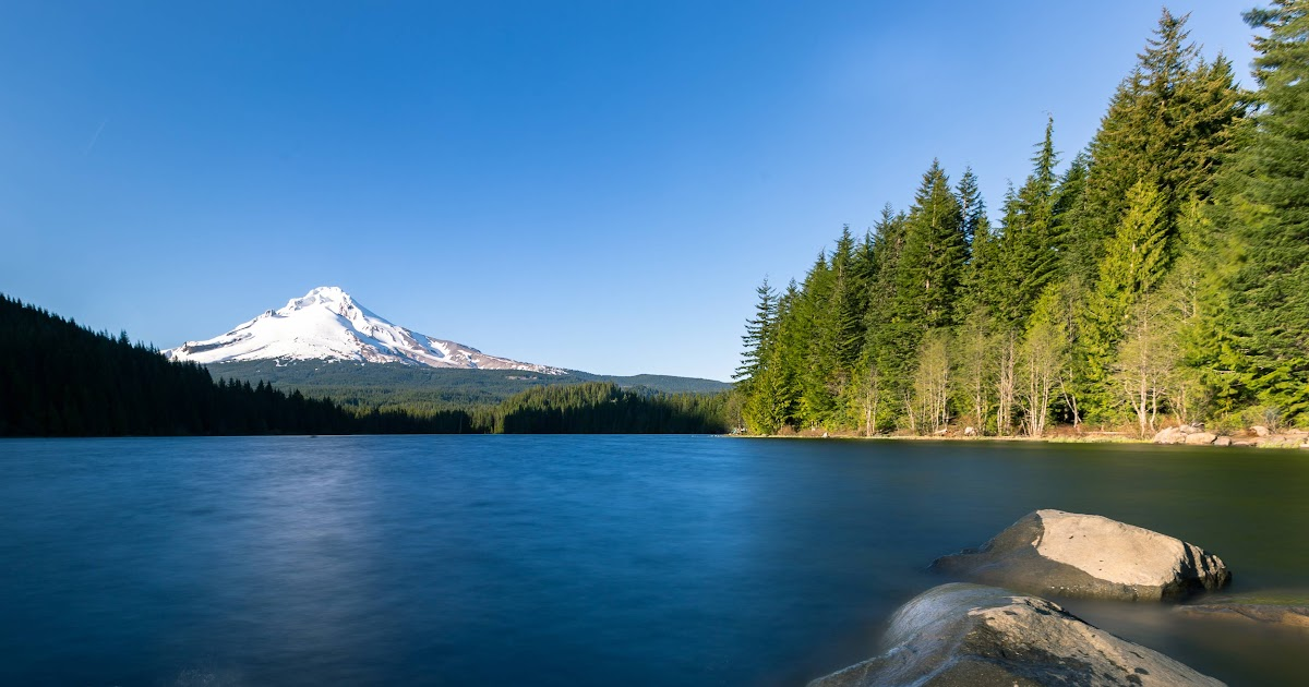 Expose Nature: Mt. Hood From Lake Trillium, OR [OC