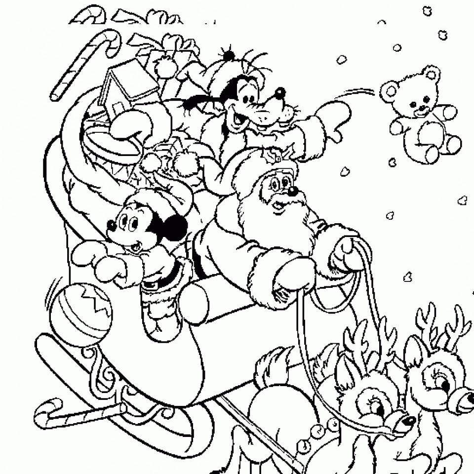 Get This Simple Disney Christmas Coloring Pages to Print ...