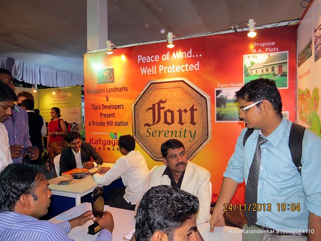Fort Serenity (838 000 4281/2) Farmhouse Plots NA Plots Resort Cottages between Bhatghar Dam Backwater & Rajgad Fort - Pune Property Exhibition, Times Property Expo 'Investment Festival 2013', 23rd & 24th November 2013