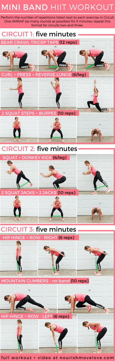 travel friendly  minute mini resistance band hiit