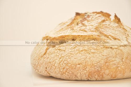 No knead bread com farinha integral