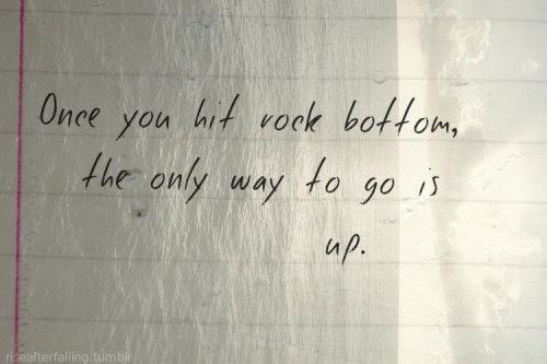 rock bottom.