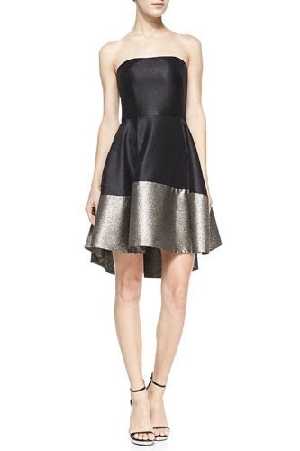 Black Halo Eve Clarkson Strapless Cocktail Dress