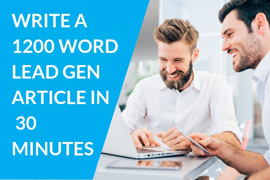 CONTENT MARKETING PERTH | How To Write A Great Article In Minutes