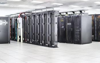 Imagem panorâmica do Blue Waters sistema de computador super-