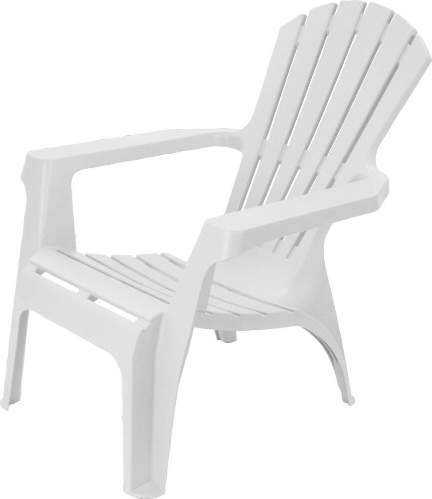 Adirondack Style Plastic Garden Patio Chair Lounger With ...