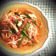 Malaysian Hawker Fare: Chicken Mee Sup with Beansprouts and Scallions