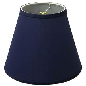 Lamp Shade 6x11x9 Navy Blue Linen Fabric - Lampshades ...