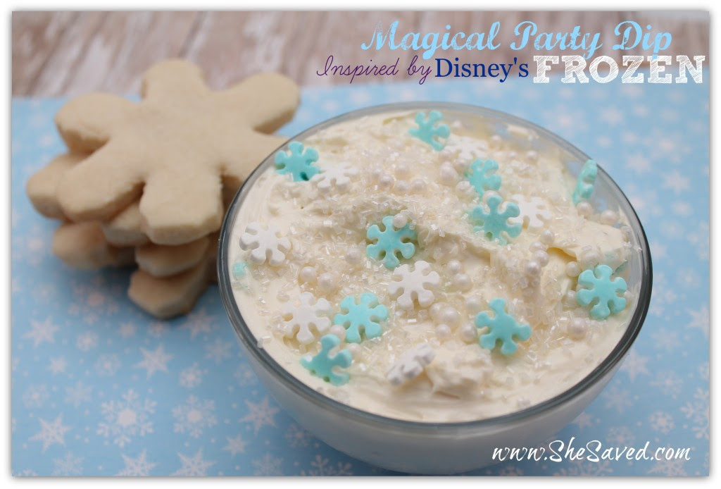 Frozen Magical Party Dip by She Saved