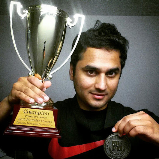 "College TableTennis on Twitter: ""@ACUItweets Meet Sarang Bhaway the new ACUI TT Champ for this year """