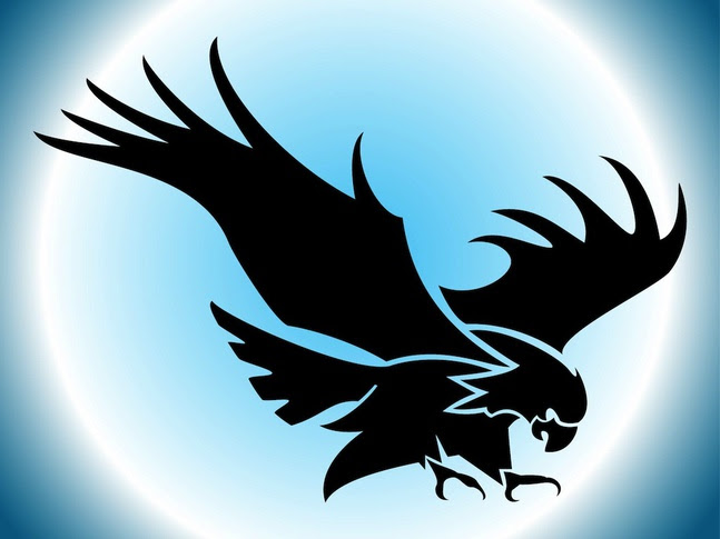 flying eagle silhouette vector free