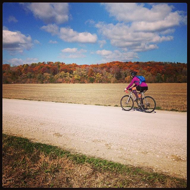Fall. #gravel #colors #bikes