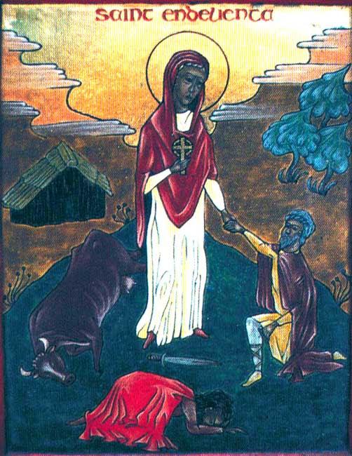 IMG ST. ENDELLIENTA,, Nun-Recluse of Cornwal