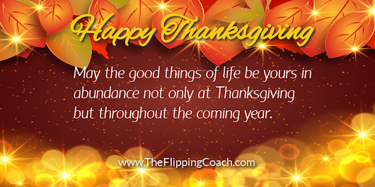 Happy Thanksgiving 2018! | The Flipping Coach