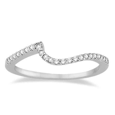 Petite Contour Diamond Wedding Band Swirl Ring Palladium 0