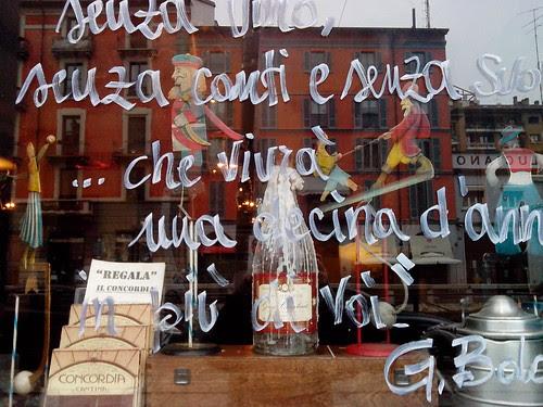 """Vetrina """"Concordia"""" sul Naviglio Grande by Ylbert Durishti"""