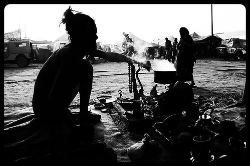 The Silhouette Of A Naga Sadhu - Maha Kumbh by firoze shakir photographerno1