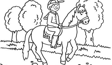 malvorlagen kostenlos pferd mit reiter - kostenlose