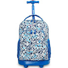"J World Sunny 17"" Rolling Backpack - Geo Blue"