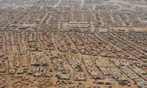 Zaatari refugee camp in Jordan