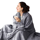 """Subrtex 100% Cotton Weighted Blanket Cooling 15lbs Heavy Blanket with Glass Beads for Sleeping(48""""X72"""" 15lbs)"""