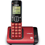 VTech - CS5119-16 DECT 6.0 Expandable Cordless Phone System - Red