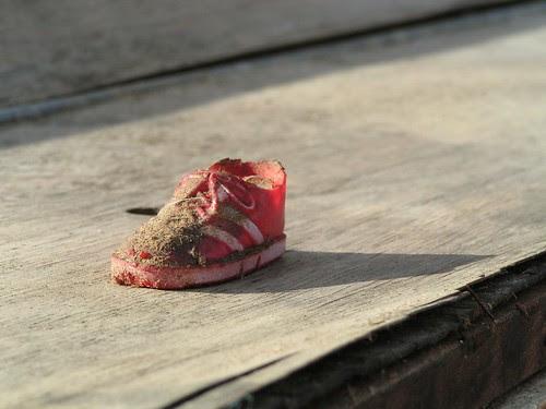 a tiny shoe