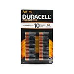 Duracell Coppertop 40 AA Alkaline Batteries 1.5V, 40 Pack