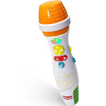 Kidzlane Kids Karaoke Microphone with Bluetooth, Voice Changer, and 10 Built-in Nursery Rhymes - White