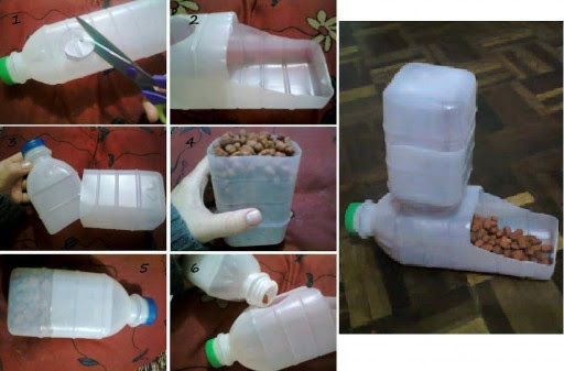How To Make A DIY Pet Feeder With Plastic Bottles | How To Instructions