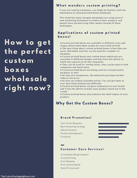 custom boxes wholesale: How to get the perfect product packaging?