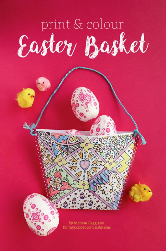 Kids Craft: Print & Color Easter Basket