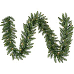 "Vickerman 50' x 14"" Camdon Fir Garland with 550 Multi LED Lights"
