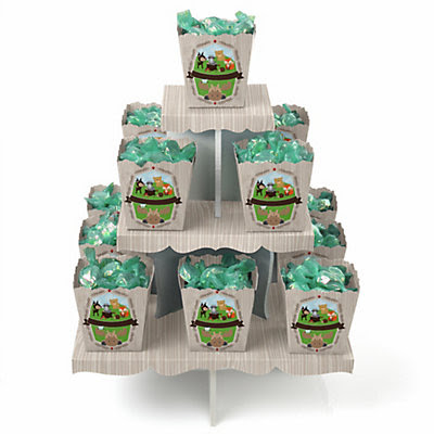 Woodland Creatures - Baby Shower Candy Stand and 13 Candy Boxes