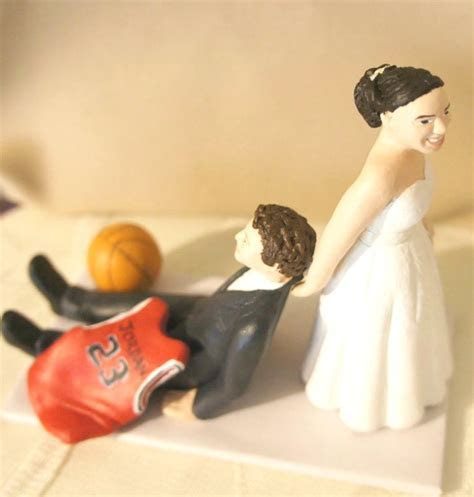 Humourous Funny Realistic Wedding Cake Toppers