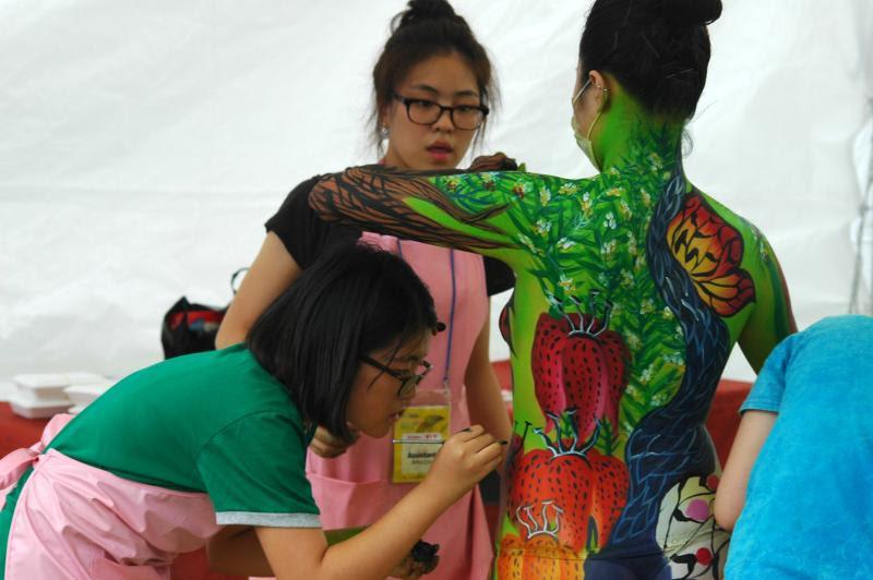 World Body Painting Festival in Daegu, South Korea