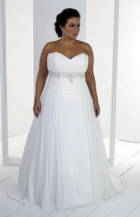 Wedding dress for big women