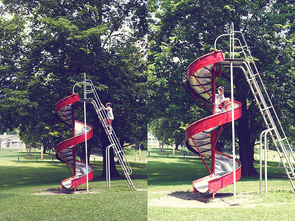 classic twirly slide
