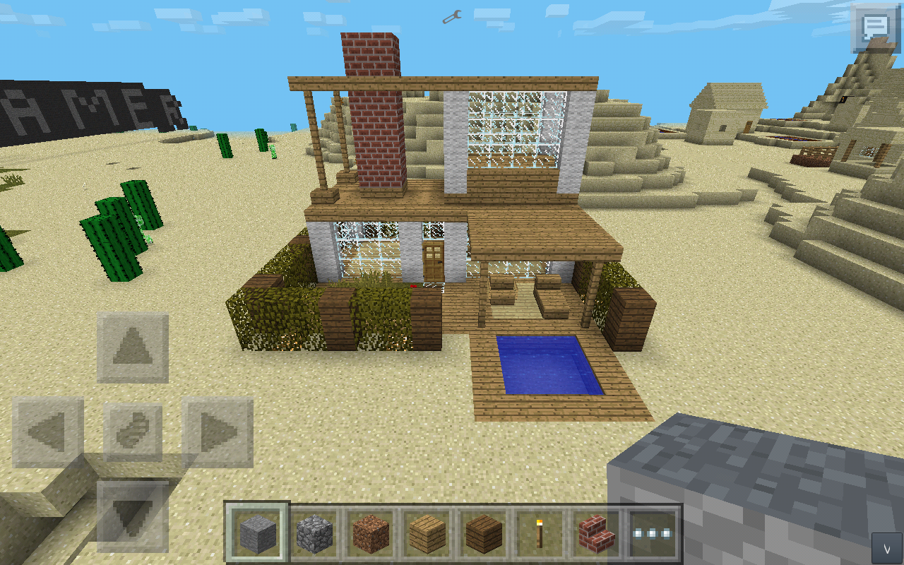 mcpe simple modern house